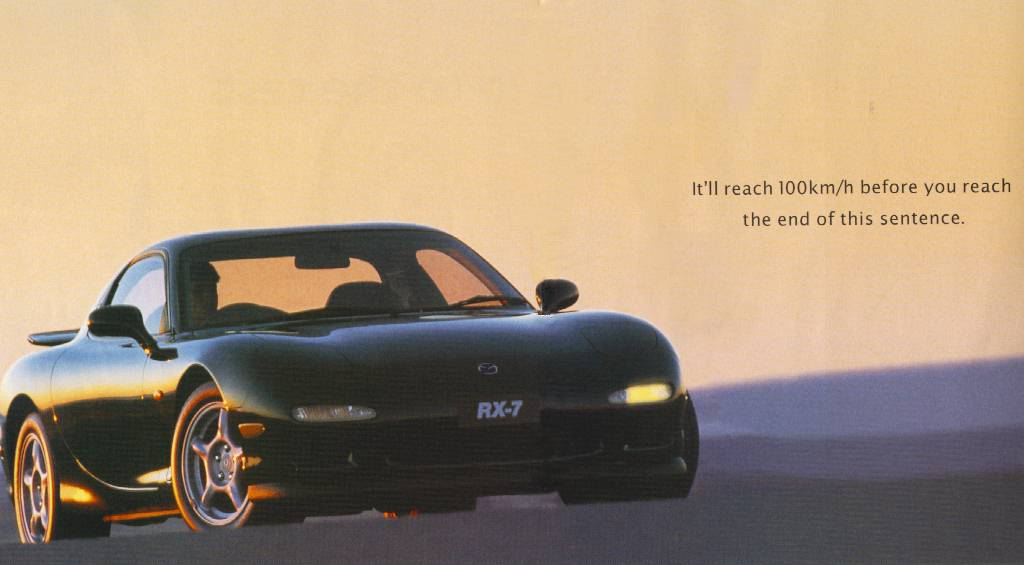 Photo of Best Car Ads: 1993-1995 Mazda RX-7