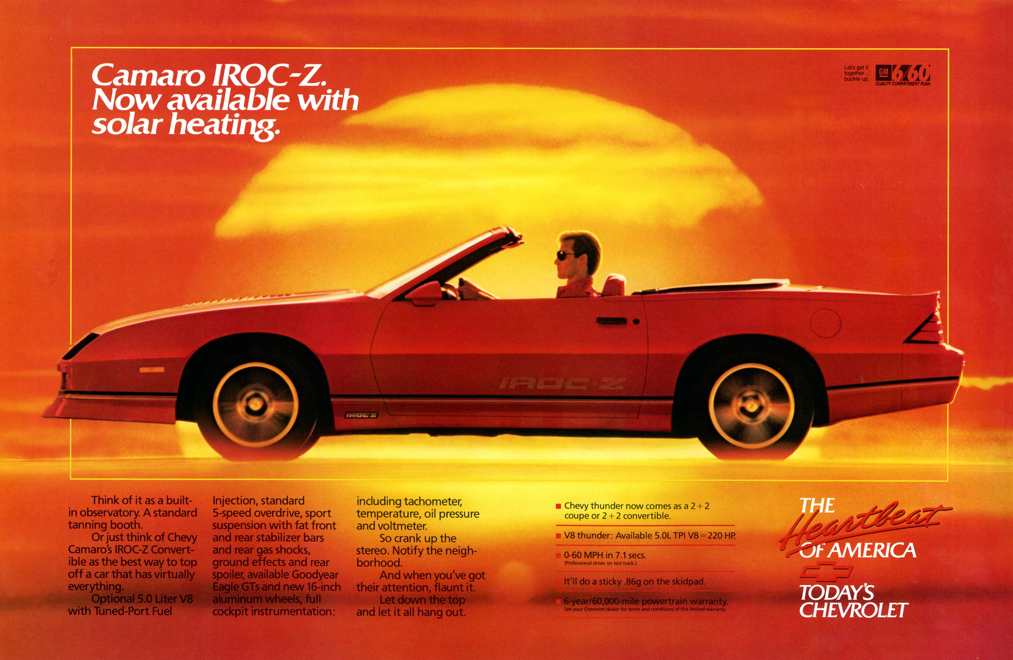 Photo of Best Car Ads: Camaro IROC-Z