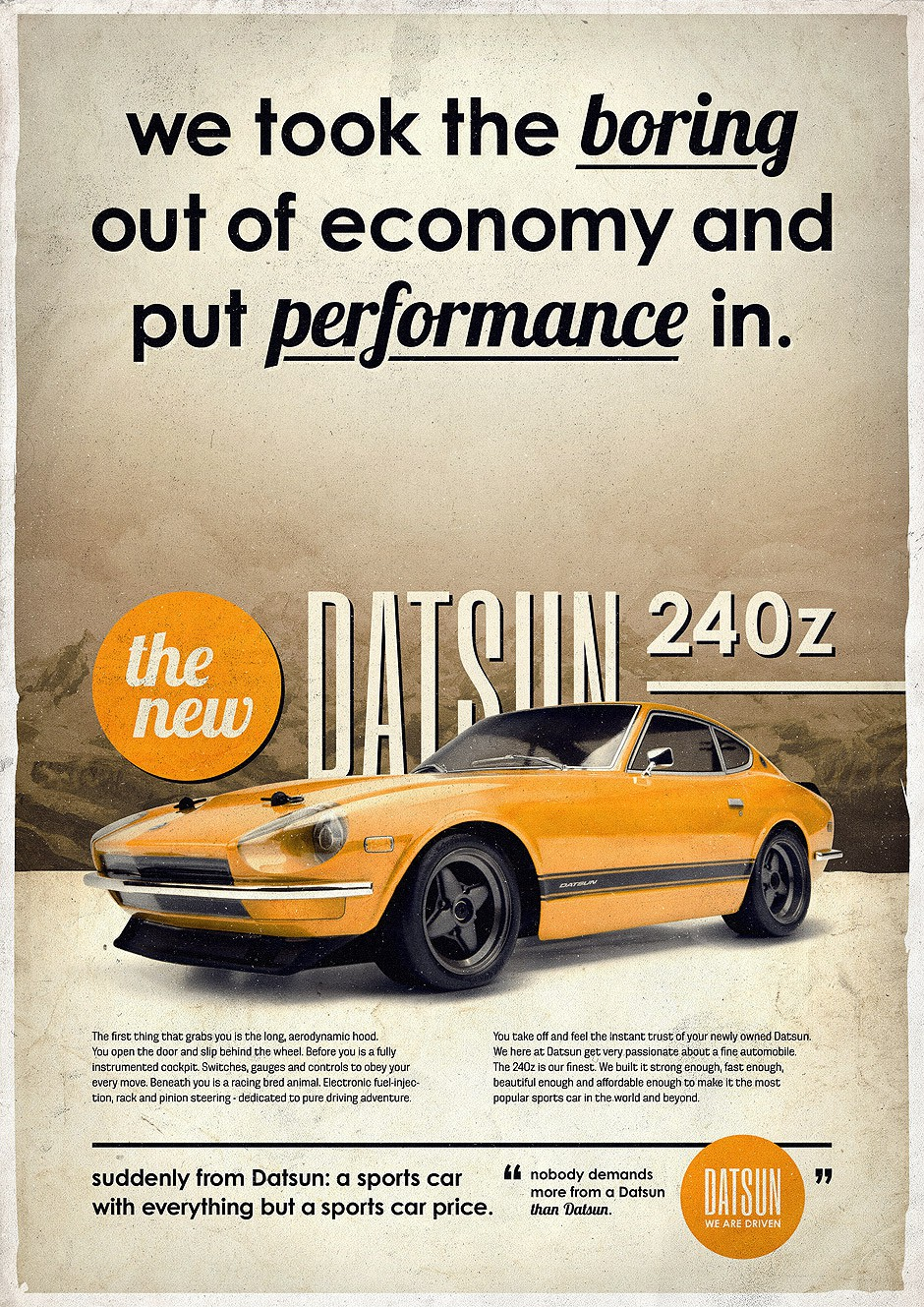 Photo of Best Car Ads: Datsun 240Z