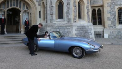 Photo of New Royal Couple Rides Off In Resto-Mod Electric Jaguar
