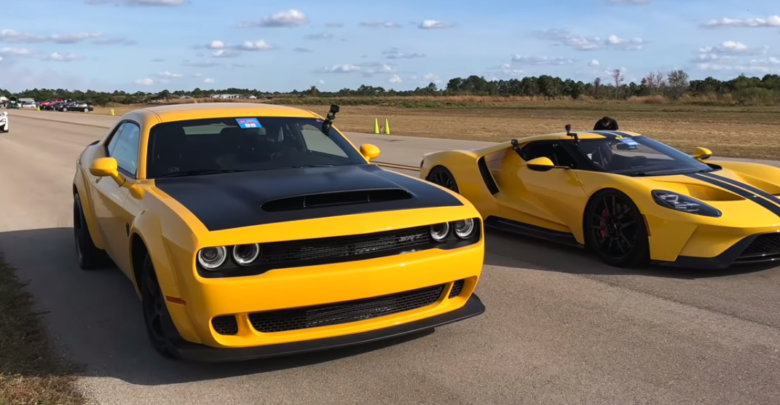 Photo of Dodge Demon VS Ford GT: 1/2 Mile Shoot Out