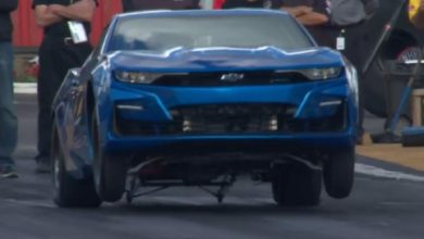 Photo of Electric eCOPO Camaro Concept Totes The Front Tires