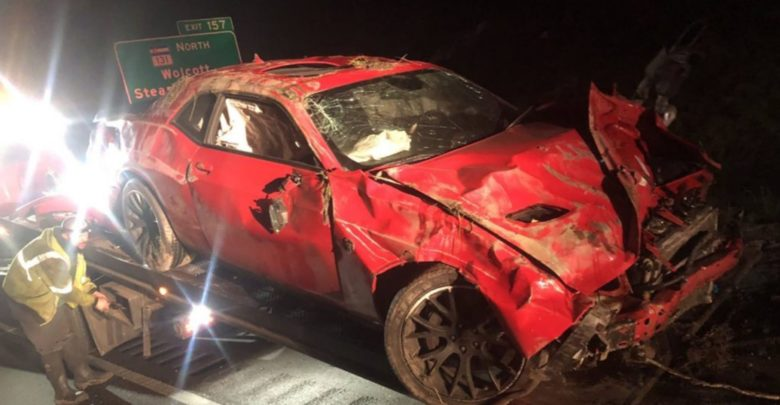 Photo of High-Speed Pursuit Results In Destroyed Hellcat