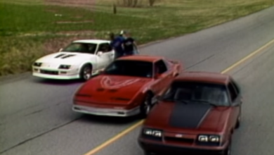 Photo of Retro Shootout: 1985 Mustang GT vs IROC Camaro vs Trans-Am
