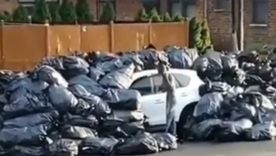 Photo of SUV Gets Covered In Trash For Parking In The Wrong Spot