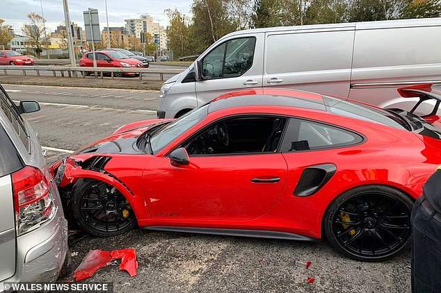 Photo of Man Crashes $300,000 Porsche During Test Drive